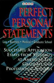 Cover of: Perfect Personal Statements