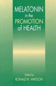 Cover of: Melatonin in the promotion of health