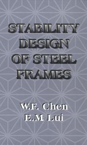 Cover of: Stability design of steel frames