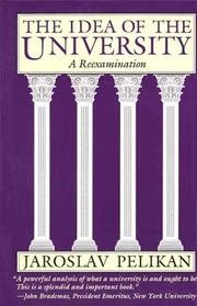 Cover of: The idea of the university: a reexamination