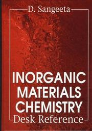 Cover of: Inorganic materials chemistry desk reference | D. Sangeeta