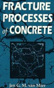Cover of: Fracture processes of concrete