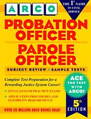 Cover of: Probation officer, parole officer