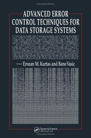 Cover of: Advanced error control techniques for data storage systems | Erozan Kurtas