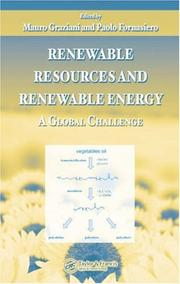 Cover of: Renewable Resources and Renewable Energy |