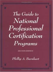 Cover of: Guide to national professional certification programs