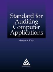 Cover of: A standard for auditing computer applications