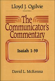 Cover of: Isaiah 1-39 (Communicator's Commentary Ot)