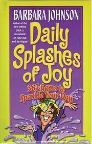 Cover of: Daily splashes of joy