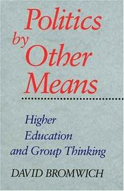 Cover of: Politics by Other Means