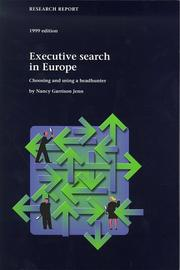 Cover of: Executive search in Europe