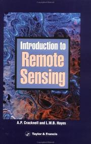 Cover of: Introduction to remote sensing | Arthur P. Cracknell