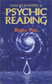 Cover of: How to Interpret a Psychic Reading | Bruce Way