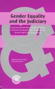 Cover of: Gender equality and the judiciary | Caribbean Regional Judicial Colloquium (1997 Georgetown, Guyana)