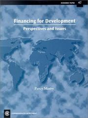 Cover of: Financing for development