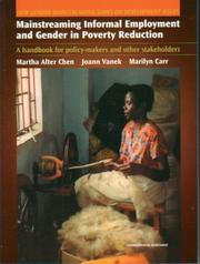 Cover of: Mainstreaming Informal Employment and Gender in Poverty Reduction |