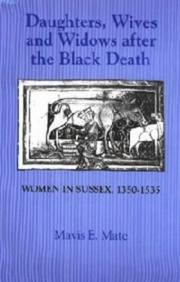Cover of: Daughters, wives, and widows after the Black Death