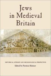 Cover of: Jews in Medieval Britain