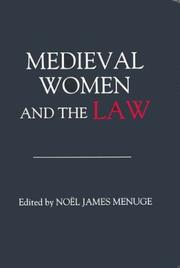 Cover of: Medieval Women and the Law | NoГ«l James Menuge