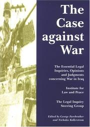 Cover of: The case against war
