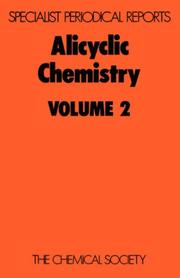 Cover of: Alicyclic Chemistry Volume 2 | W. Parker