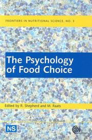 Cover of: The psychology of food choice |