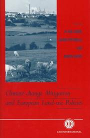 Cover of: Climate Change Mitigation and European Land Use Policy (Cabi Publishing) |