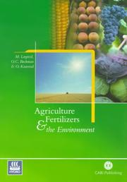 Cover of: Agriculture, fertilizers, and the environment
