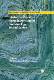 Cover of: Intellectual property rights in agricultural biotechnology |