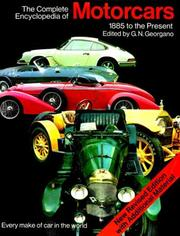 Cover of: The complete encyclopedia of motorcars, 1885 to the present