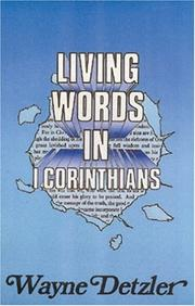Cover of: Living Words in 1st Corinthians | Wayne Detzler