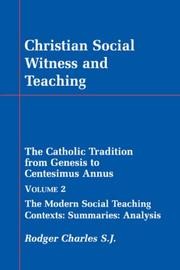 Cover of: Christian Social Witness and Teaching vol II | Rodger Charles