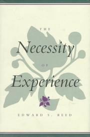 Cover of: The necessity of experience