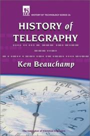 Cover of: History of telegraphy