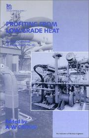 Cover of: Profiting from Low-Grade Heat |