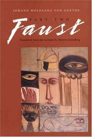 Cover of: Faust, Part Two (Faust) | John Leonard Greenberg