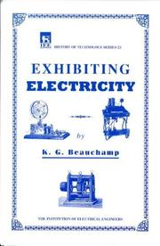 Cover of: Exhibiting electricity