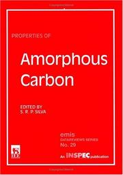 Cover of: Properties of Amorphous Carbon (EMIS Datareviews) | R. Silva