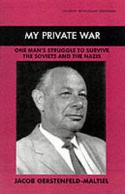 Cover of: My private war | Jacob Maltiel-Gerstenfeld