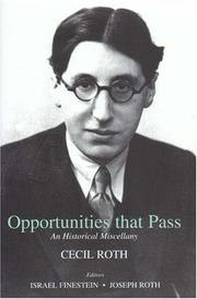 Cover of: Opportunities that pass: an historical miscellany
