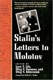 Cover of: Stalin's Letters to Molotov
