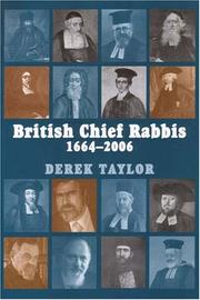 Cover of: British Chief Rabbis 1664-2006