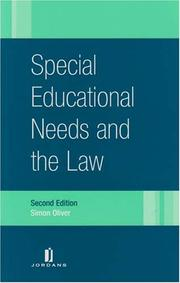 Cover of: Special educational needs and the law