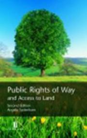 Cover of: Public Rights of Way and Access to Land