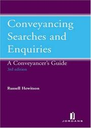 Cover of: Conveyancing Searches and Enquiries | Frances Silverman