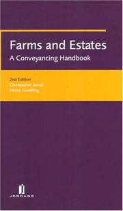 Cover of: Farms And Estates | Simon Goulding