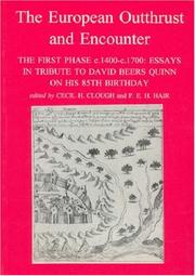 Cover of: The European outthrust and encounter