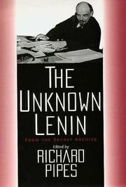 Cover of: The Unknown Lenin