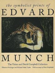 Cover of: symbolist prints of Edvard Munch | Elizabeth Prelinger