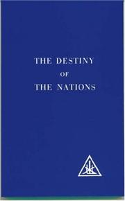 Cover of: The Destiny of the Nations